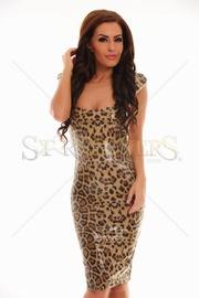 rochie animal print ieftina