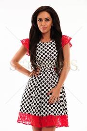 rochie cu buline negre
