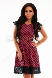 rochie cu buline rosii
