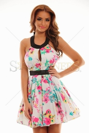 rochie cu imprimeu floral bufanta