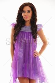 rochie cu tul de banchet