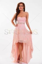 rochie cu voal scurta in fata lunga in spate