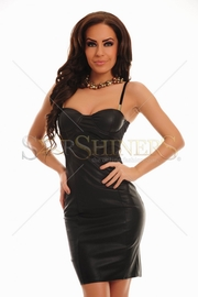 rochie din piele neagra ieftina
