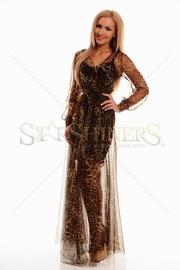rochie eleganta animal print