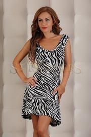 rochie imprimeu zebra