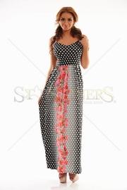 rochie lunga cu buline