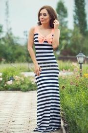 rochie lunga cu dungi