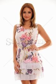 rochie scurta cu imprimeu floral