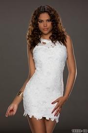 rochie alba de ocazie ieftina