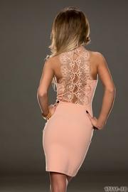 rochie de ocazie cu aplicatie de dantela