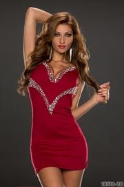 rochie de ocazie cu strasuri ieftina