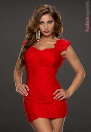 rochie eleganta rosie scurta
