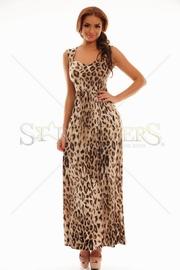 rochie lunga de vara animal print