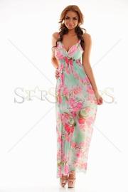 rochie lunga de vara cu flori