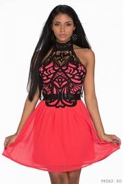 rochie rosie de ocazie ieftina