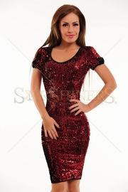 rochie de club din paiete