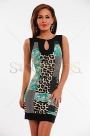 rochie imprimeu leopard pentru banchet