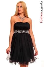 rochie negra cocktail de seara