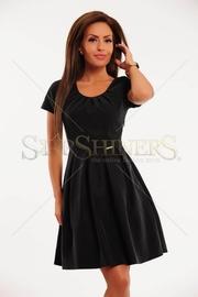 rochie negra cu fermoar lateral