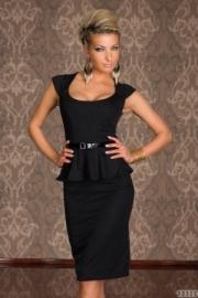 rochie negra fara maneci