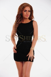 rochie negra scurta fara maneci