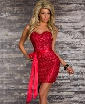 rochie rosie briliant