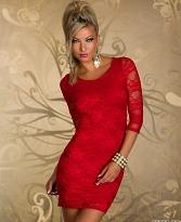 rochie rosie dantela
