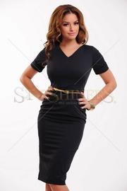 rochie de zi neagra