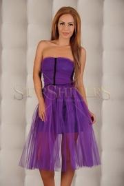 rochie mov de dantela