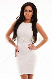 rochie alba de bal