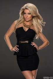 rochie negra scurta