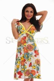rochie de plaja cu flori