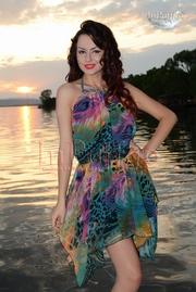 rochie de plaja cu spatele gol