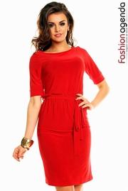 rochie midi rosie