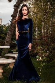 rochie lunga din catifea