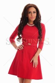 rochie rosie pana la genunchi