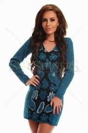 rochie tricotata de iarna