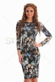 rochii de seara pana la genunchi imprimeu floral