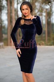 rochii din catifea bleumarin