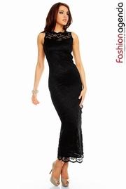 rochii din dantela negre lungi