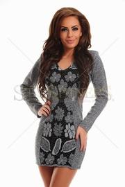 rochii tricotate elegante cu maneca lunga