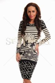 rochii tricotate maneca lunga