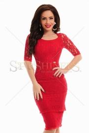 rochii rosii de primavara