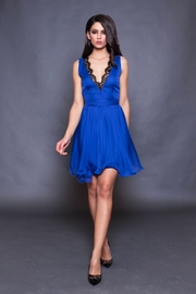 rochie cununie civila albastra