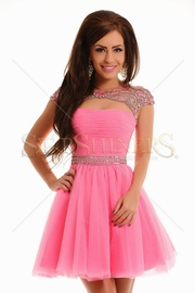 rochie cununie civila roz