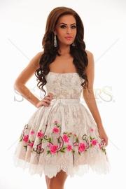 rochii cununie civila cu flori