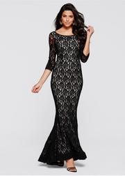 rochii de seara lungi negre din dantela