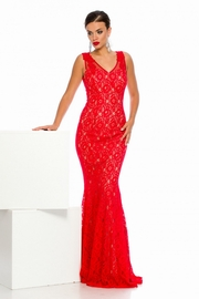 rochii lungi din dantela rosie