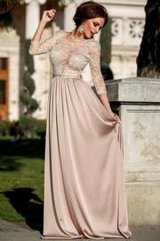 rochii de seara cu maneca 3 sferturi