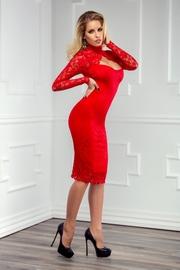 rochii de seara cu maneca lunga rosie
